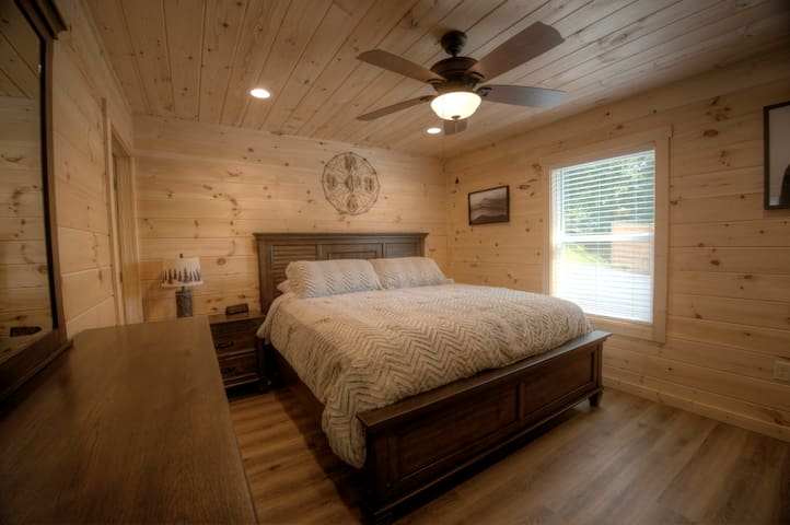 Your king size bed awaits you in the Master Suite.