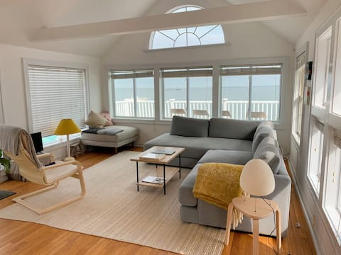 Waterfront North Fork House with Private Beach