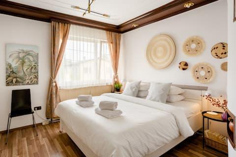 Prostrani i tihi bečki apartman sa balkonom