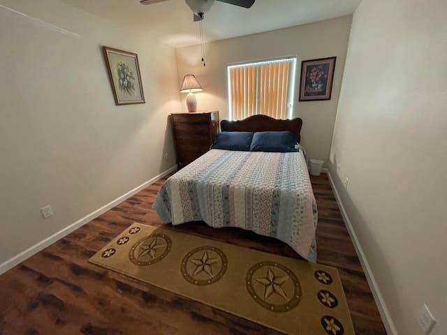 Bedroom #2 with queen size bed.  Comfy!