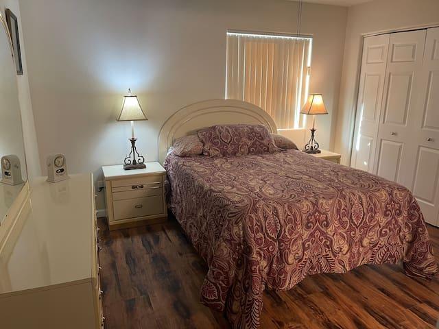 Master Bedroom with Very comfortable queen bed.