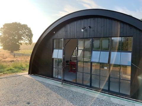 Recently converted Nissen Barn on beautiful farm