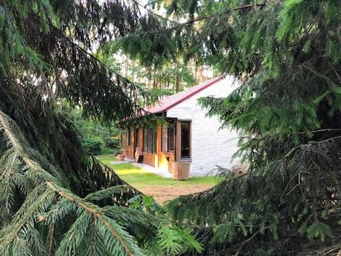 Vakantiehuis in een privé bos  van 12500m2