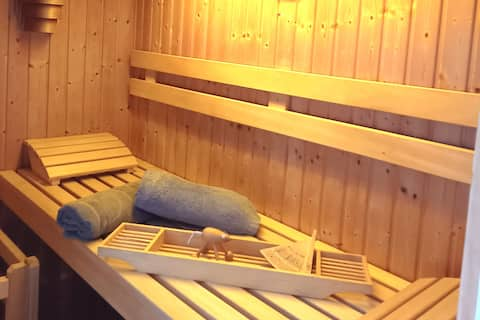 Apartment with sauna and garden on 100 sqm