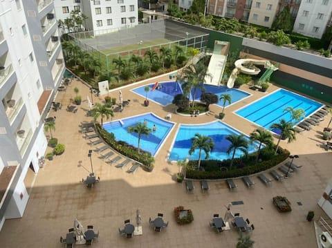 Veredas do Rio Quente Flat 526 a 300m do Hot Park