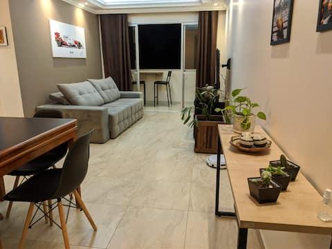 Apartamento completo na Praia da Costa
