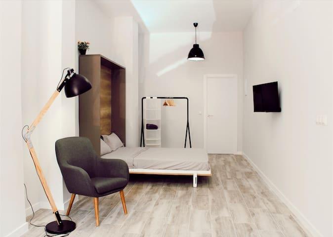 Al fondo del loft tienes el descanso.