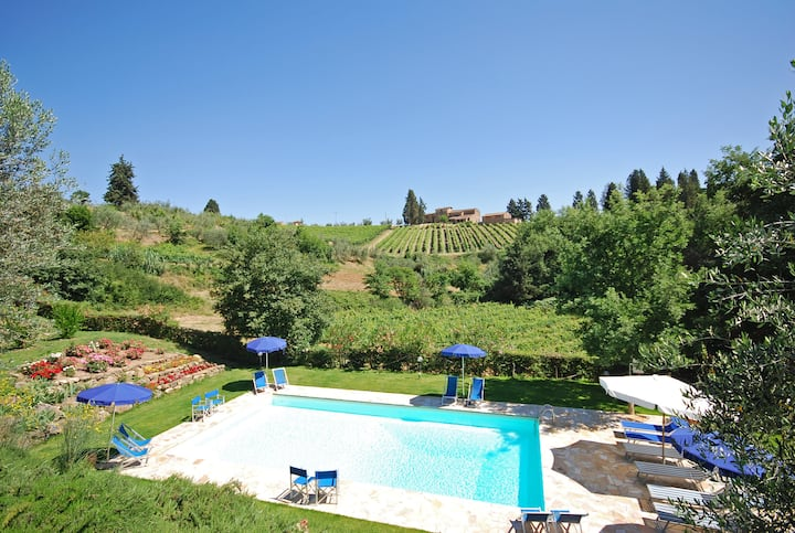 Tuscan Villa | Private garden and panoramic pool
