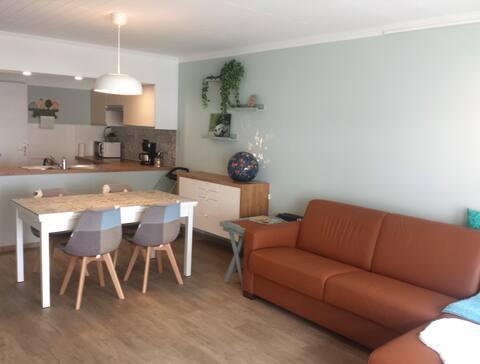 gezellig appartement in het rustige Wenduine