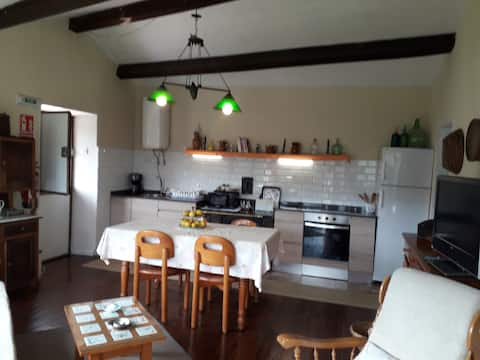 Casa muy agradable con chimenea y mucha zona verde