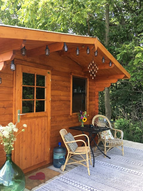 Hawthorn Cabin at Wild Rose Sanctuary Farm Retreat