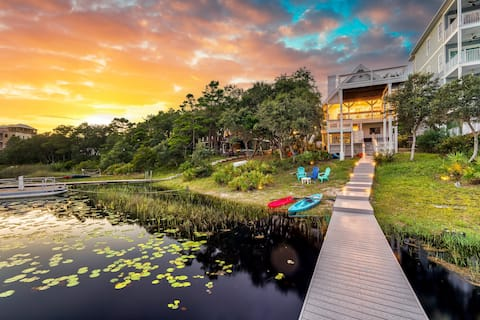 ☆30A Waterfront Cabin☆ Kayaks┃Private Dock┃Firepit
