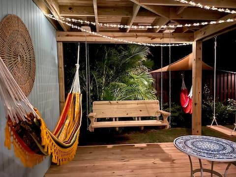 Tropical Private Beach Studio Apt #1 @ Jobos Beach