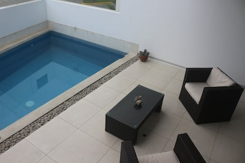 Santa Maria beach apartment with pool