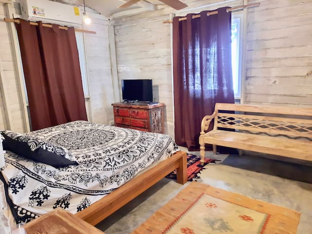 Bedroom area with king bed. lovely and quite