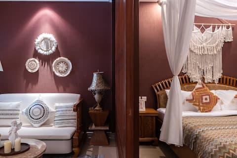 暑假出行特惠.访海 波西米亚风海景大床套房 带投影 超大浴缸