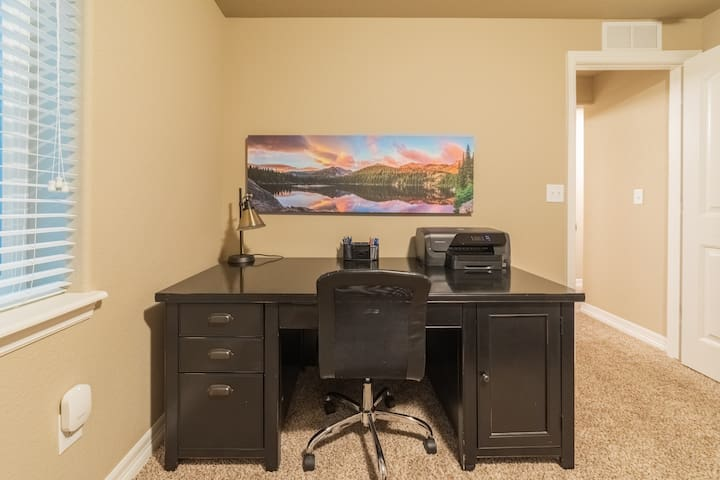 Bedroom #5 - Private office area to work while you're away. Stocked with wireless printer and basic office necessities.