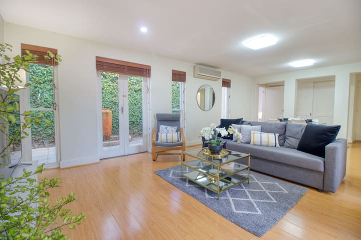 large living room with Aircon.