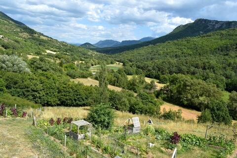 Pensjonat ze wspaniałym widokiem na dolinę.