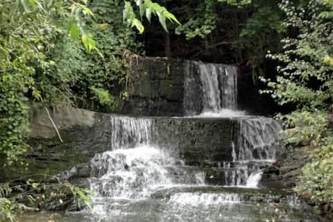 Backyard Waterfall with Cayuga Lake Views!