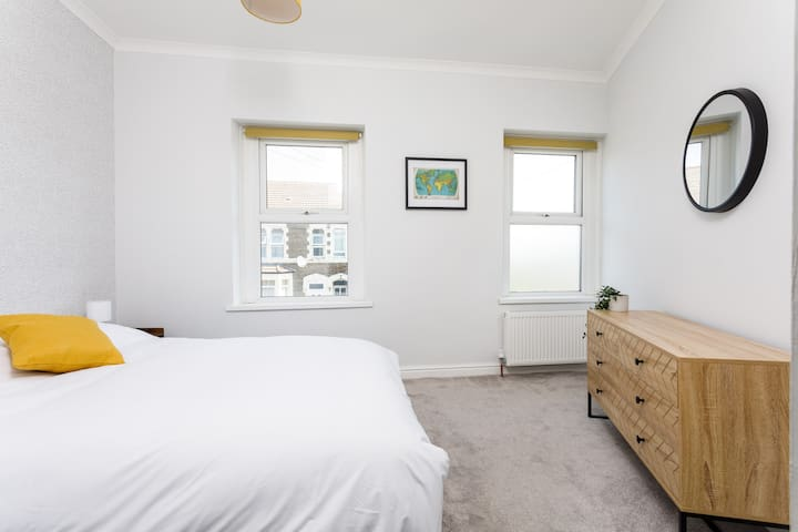 Bedroom 1 with a light and airy feel