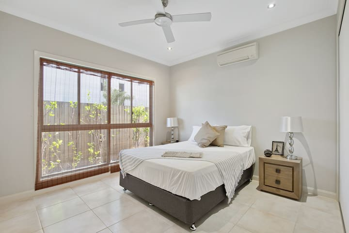 Bedroom 3, located on the lower level. Split system a/c, own private bathroom and walk in robe.