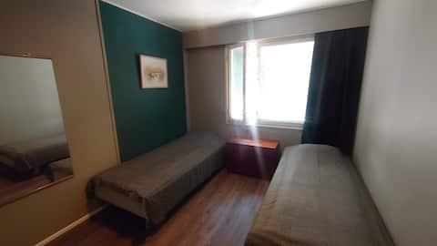 Huone Imatran keskustassa