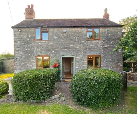 Beautiful old farmer's cottage on a hillside