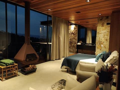 Encantadora y sofisticada casa de campo en la montaña.