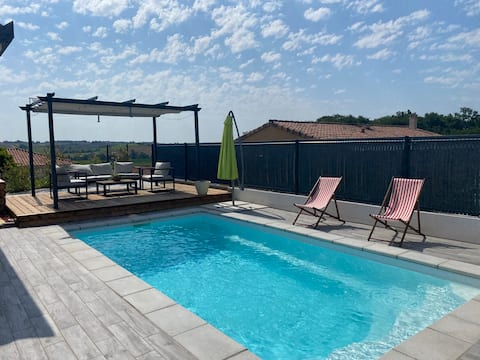 Prachtige villa Gersoise met zwembad !
