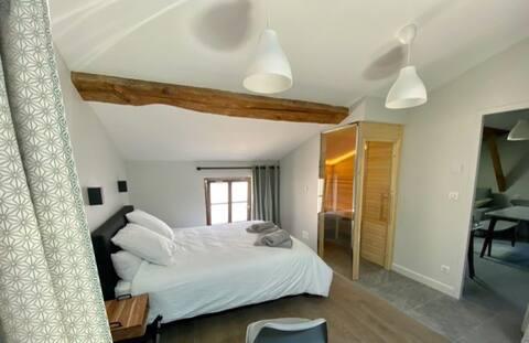 Appartement cosy, standing, sauna et balnéo, neuf