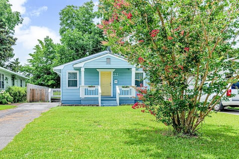 Relax in this newly renovated bright blue retreat!