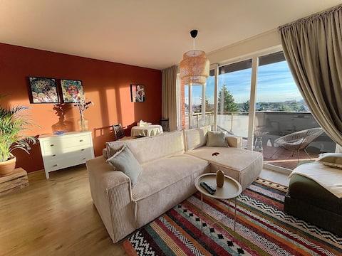 Slnečný apartmán na jazerách v Senci
