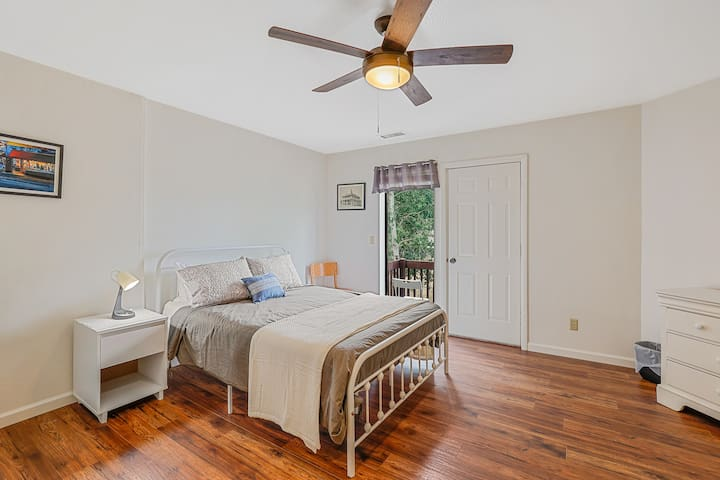 The First Bedroom is perfect for peaceful relaxation. Step outside to your own private balcony and take in the scent of the cool mountain air.