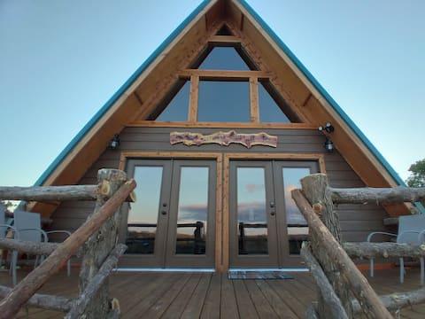 The Arrowhead A Frame Cabin On The R. P. Ranch