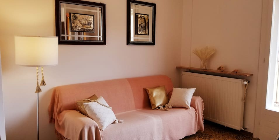The Nice Living Room with the Sofa Bed, where to relax and to spend nice Moments of Your Holiday