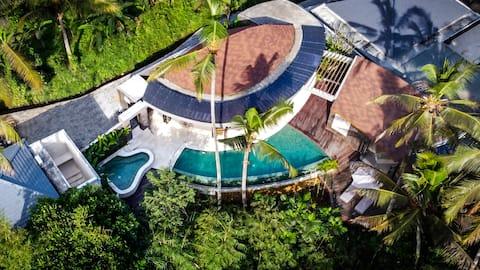 2BD - CZYSTY · Zupełnie nowy! Stylowy 2 Bdr Jungle View Villa z jacuzzi i jogą Shala