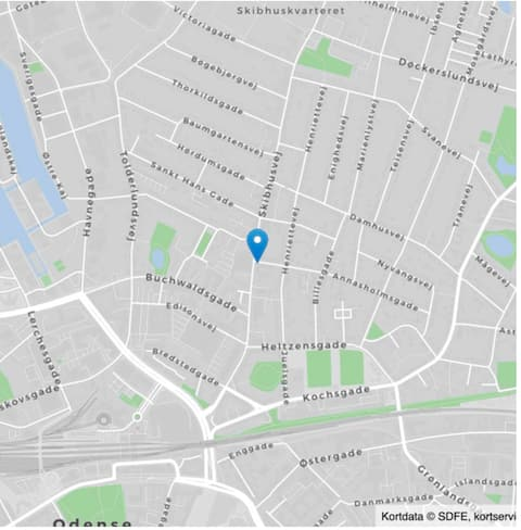Skøn lejlighed tæt på Odense centrum