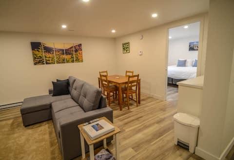 Mt 7 Vista- Central 1BR Private Basement Suite