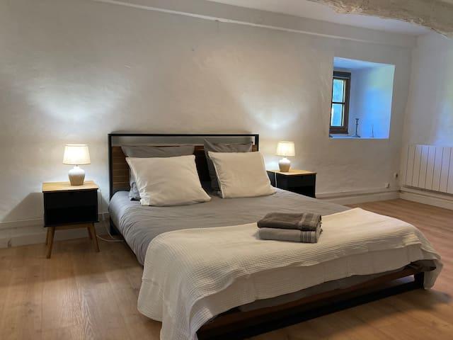 Chambre RdC , lit 160x200