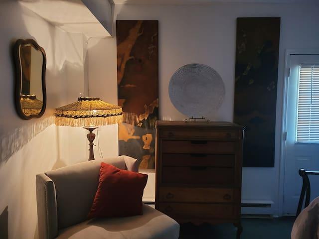 Quiet cozy corner in the bedroom.