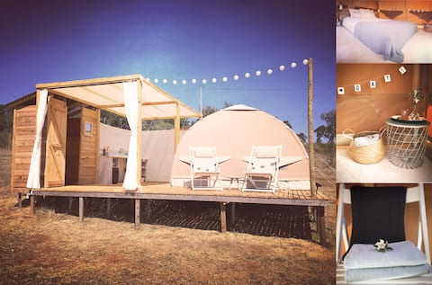 Luxurious dome-tent - UNIQUE POP-UP GLAMPING
