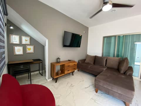 Loft moderno, elegante con cochera y pet friendly