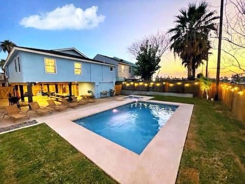 NEW!!!⛱ Private Heated Pool/SPA ⛱ 2min Walk To The Beach⛱ Zula Siesta SPI