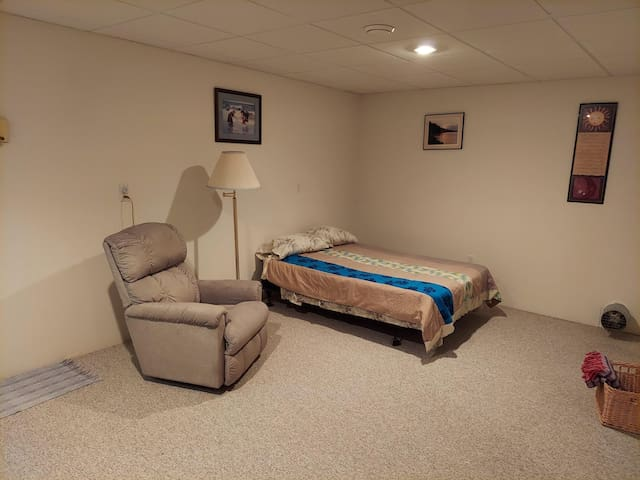 Third bedroom located in lower level.