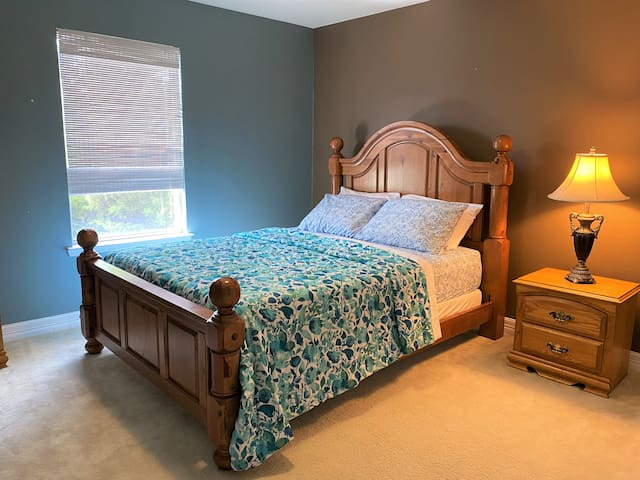 Bedroom # 3  (upstairs)  with a Queen bed set.