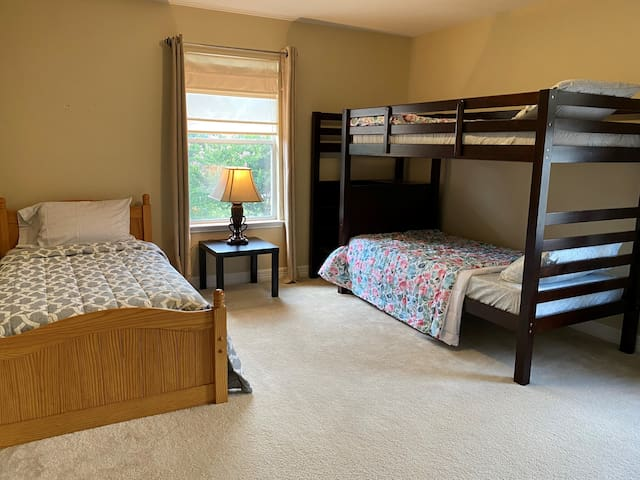 Bedroom # 4 with a twin bed and a Bunk bed. Also comes with lots of board games and books.