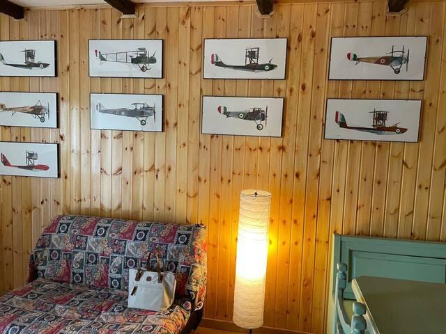 Dettagli della parete del salotto