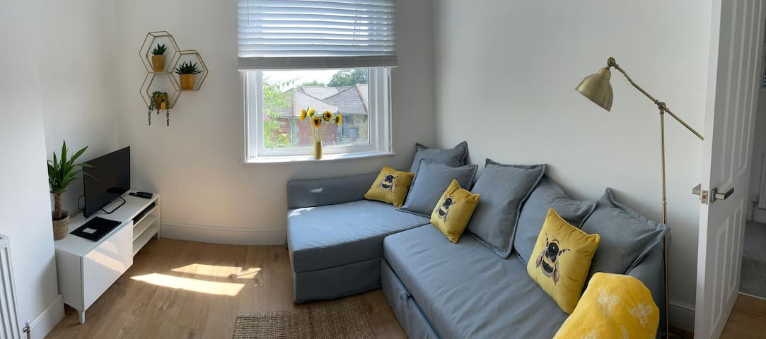 Sitting area , with sleeper couch