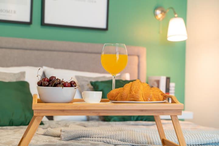пример завтрака в апартаментах Мохито